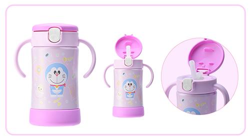 哆啦A梦宝宝不锈钢真空保温杯300ml(紫色)